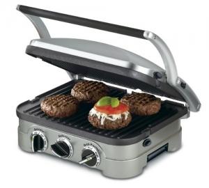 ihocon: Cuisinart GR-4N 5-in-1 Griddler, Silver, Black Dials  5合1電烤爐