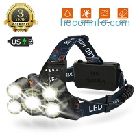 ihocon: EECOO Rechargeable Waterproof 4 Modes Headlight LED防水充電式頭燈