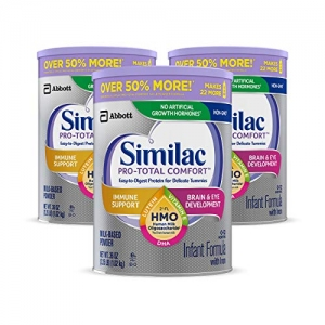 ihocon: Similac Pro-Total Comfort Infant Formula, Non-GMO, Easy-to-Digest, Gentle Formula, with 2'-FL HMO, for Immune Support, Baby Formula, Powder, 36 oz, 3 Count嬰兒奶粉