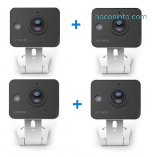ihocon: Zmodo Mini Wifi Security Camera - 4 Camera Bundle