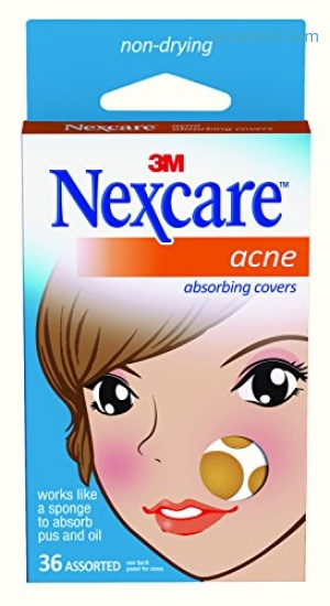 ihocon: Nexcare Acne Cover, Drug-Free, Gentle, Breathable Cover, 36 Count
