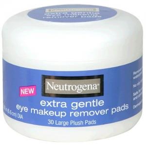 ihocon: Neutrogena Extra Gentle Eye Makeup Remover Pads, Sensitive Skin 30 Count (Pack of 2) 露得清超溫和眼部卸妝棉片