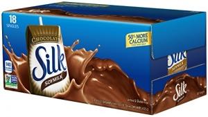ihocon: Silk Chocolate Soymilk 8-Ounce Aseptic Cartons (Pack of 18)巧克力豆奶