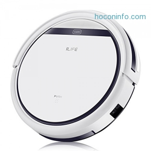 ihocon: ILIFE V3s Pro Robotic Vacuum, Newer Version of V3s, Pet Hair Care, Powerful Suction Tangle-free, Slim Design, Auto Charge, Daily Planning, Good For Hard Floor and Low Pile Carpet