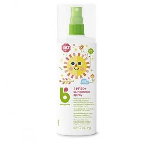 ihocon: Babyganics Baby Sunscreen Spray, SPF 50, Spray Bottle, 6 Fl Oz, Pack of 2 嬰兒防曬噴霧