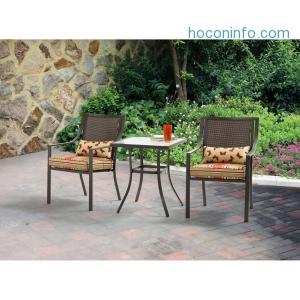 ihocon: Mainstays Alexandra Square 3-Piece Outdoor Bistro Set, Seats 2 - Walmart.com