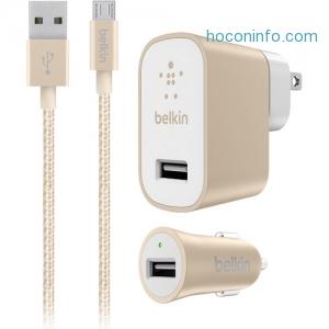 [今日特賣] Belkin家用充電器+汽車充電器+Micro-USB Cable 才$6.99免運(原價$19.99)