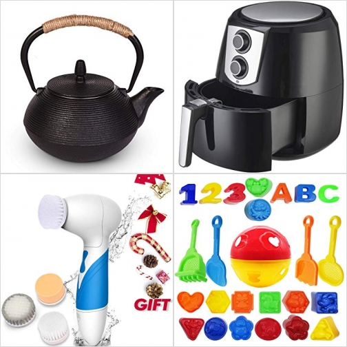[Amazon折扣碼] 日式鑄鐵茶壺, 氣炸鍋, 電動洗面刷, 玩沙工具 額外折扣!