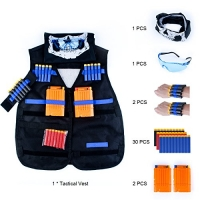 ihocon: Maykid Tactical Vest Kit for Nerf Guns N-Strike Elite Series背心+護目鏡+