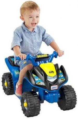 ihocon: Power Wheels Power Wheels Batman Lil' Quad 兒童蝙蝠俠電動車