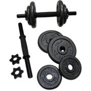 ihocon: Gold's Gym Adjustable Cast Dumbbell Set, 40 lbs 可調式啞鈴一組