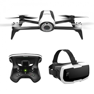 ihocon: Parrot Bebop 2 FPV Drone Kit with Parrot Cockpit Glasses and Parrot SkyController 2 (White)空拍機+Goggle顯示器+遙控器