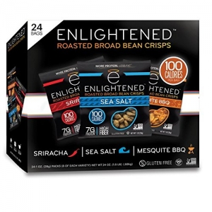 ihocon: Enlightened Plant Protein Gluten Free Roasted Broad (Fava) Bean Snack, Variety Pack, 1.0 oz, 24 Count