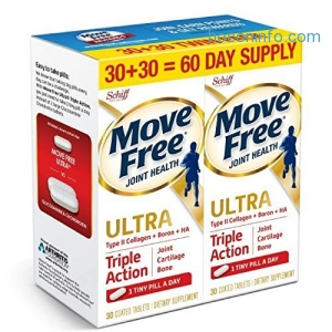 ihocon: Move Free Ultra Triple Action, 60ct (2x30ct Twin Pack) - Joint Health Supplement with Type II Collagen, Boron and HA