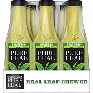 ihocon: Pure Leaf Iced Tea, Unsweetened Green Tea, Real Brewed Tea, 0 Calories, 18.5 Ounce (Pack of 12)
