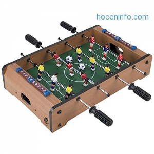 ihocon: Tabletop Foosball Table- Portable Mini Table Football / Soccer Game Set with Two Balls and Score Keeper for Adults and Kids by Hey! Play!