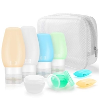 ihocon: Hestia Goods Leakproof Travel Container可重覆使用保養品隨身瓶一組