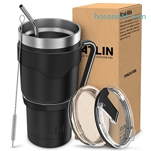 ihocon: Atlin 30 oz. Double Wall Stainless Steel Vacuum Insulation Tumbler保温杯