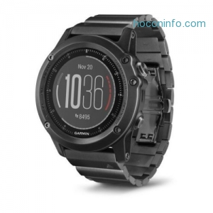 ihocon: Garmin fenix 3 HR 心率GPS智能腕錶 Watch w/ Stainless Steel Band