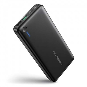 ihocon: RAVPower RP-PB043 20100mAh Turbo Portable Power Bank with USB Type-C & Quick Charge 3.0 Ports (Black) 行動電源/充電寶