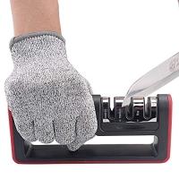 ihocon: Aptoyu 3-Stage Knife Sharpener + Cut-Resistant Glove 3段磨刀器及防切手套