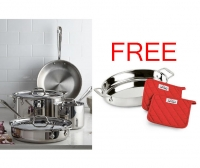 ihocon: All-Clad Stainless Steel 7-Pc. Cookware Set