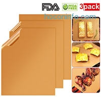 ihocon: X-Chef Barbecue Copper Grilling Mats, Set of 3不沾烤盤墊