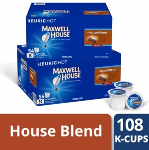 ihocon: (2 Pack) Maxwell House House Blend Coffee K-Cup Packs 54 ct Box 2盒共108個咖啡膠囊
