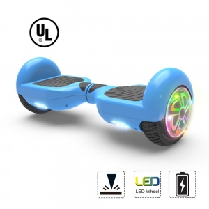 ihocon: Hoverboard  Flash Wheel Two-Wheel Self Balancing Electric Scooter 6.5 UL 2272 Certified Blue 兩輪自動平衡電動滑板車