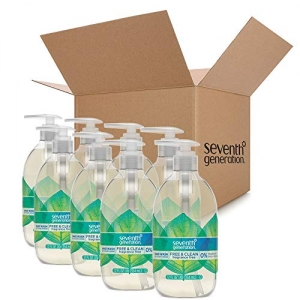 ihocon: Seventh Generation Hand Wash Soap, Free & Clean Unscented, 12 Fl Oz, (Pack of 8) ( Pack May Vary ) 洗手液皂8瓶