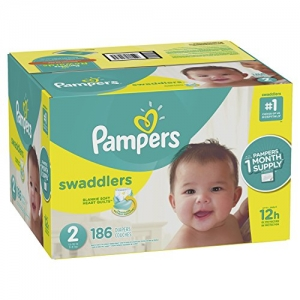 ihocon: Pampers Swaddlers Disposable Diapers Size 2, 186 Count