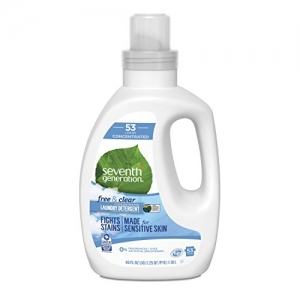 ihocon: Seventh Generation Concentrated Laundry Detergent, Free & Clear unscented, 40 Fl Oz (53 Loads) 濃縮洗衣精