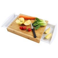 ihocon: ANYO 100% ORGANIC MOSO Bamboo Cutting Board With 2 Trays for 有機竹砧板,含2個盛菜盤
