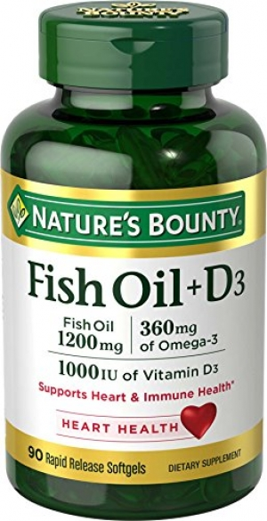 ihocon: Nature's Bounty Fish Oil + D3 1200 mg Softgels 90 ea 魚油
