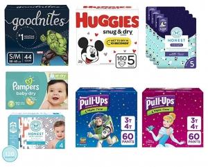 Amazon: Pampers, Huggies, Seventh Generation及Honest尿片及尿褲 任買2包就可$10 off