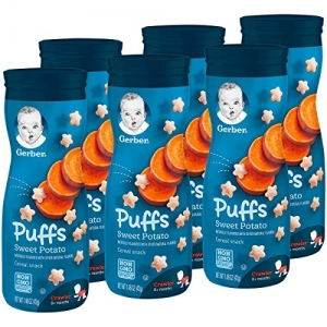 ihocon: Gerber Graduates Puffs Cereal Snack, Sweet Potato, Naturally Flavored with Other Natural Flavors, 1.48 Ounce, 6 Count 兒童泡芙點心