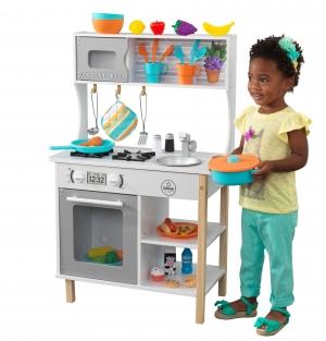 ihocon: KidKraft All Time Play Kitchen with Accessories兒童遊戲廚房