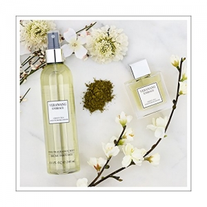 ihocon: Vera Wang Embrace Body Mist for Women Green Tea and Pear Blossom Scent 8 Fluid Oz.女士身體芳香噴霧