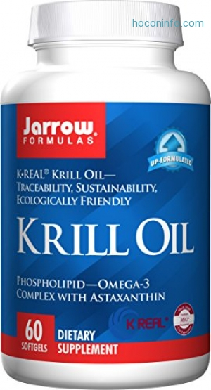 ihocon: Jarrow Formulas Krill Oil, Supports Brain, Memory, Energy, Cardiovascular Health, 60 Softgels磷蝦油