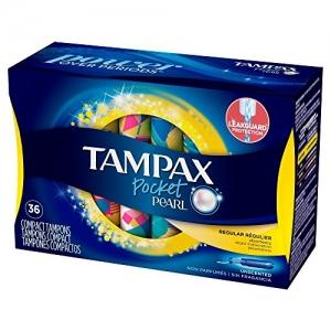 Tampax Pocket Pearl Plastic Tampons 衛生棉條 36個裝, 3盒(共108個) $20.37免運(原價$26.37, 23% Off)