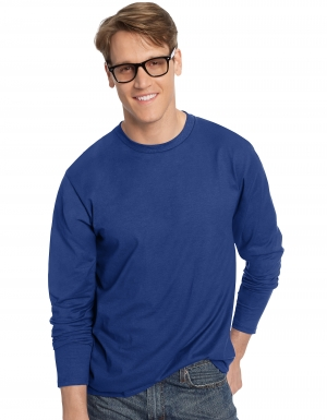 ihocon: Hanes Mens Long Sleeve Tee - 多色可選
