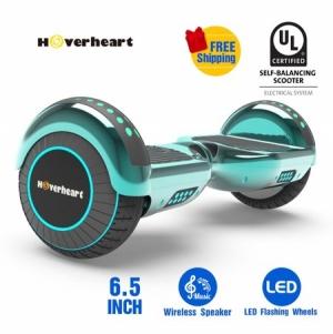 Hoverboard 兩輪自動平衡電動滑板, LED燈, 內建藍芽Speaker $119免運(原價$299, 60% Off)