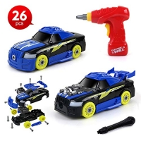 ihocon: Beebeerun 2-in-1 DIY Toys 26 Pieces Stem Learning Assembly Car Toys 2合1組裝玩具車
