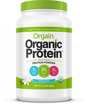 ihocon: Orgain Organic Plant Based Protein Powder, Vanilla Bean, Vegan, Gluten Free, Kosher, Non-GMO, 2.03 Pound, Packaging May Vary 有機植物蛋白粉