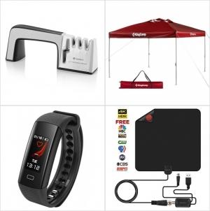 Amazon: 磨刀器, 遮陽棚, 心率,睡眠監測運動手環, 室內天線 額外折扣!