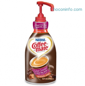 ihocon: NESTLE COFFEE-MATE Coffee Creamer, Salted Caramel Chocolate, 1.5L liquid pump bottle, Pack of 1
