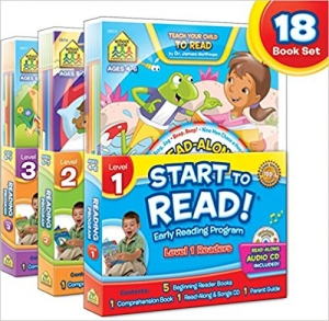 ihocon: SCHOOL ZONE - Start to Read! Complete Early Reading Program 18-Book Set, Ages 4 to 7, Books, CDs, Workbooks and a Parent Guide
