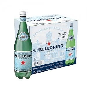 ihocon: S.Pellegrino Sparkling Natural Mineral Water, 33.8 fl oz. (Pack of 12) 氣泡礦泉水