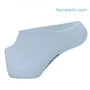 ihocon: Enerwear 10P Pack Men's Cotton Odor Control No Show Socks防臭男襪-多色可選