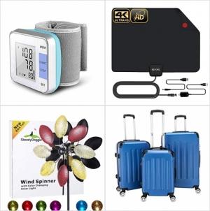 [Amazon折扣碼] 手腕血壓計, 室內天線, 太陽能LED旋轉風車, 硬殼行李箱 額外折扣!